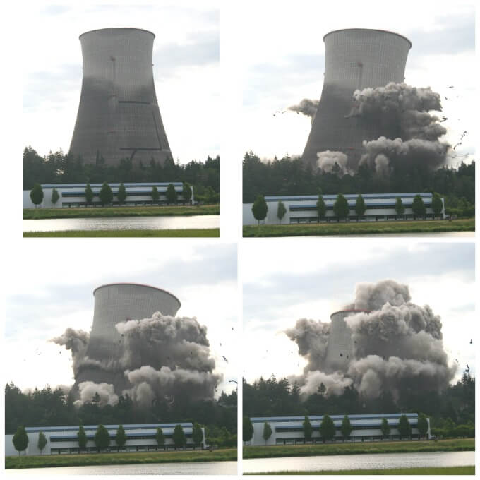 Implosion of the Cooling Tower, Trojan Nuclear Power Plant 2006