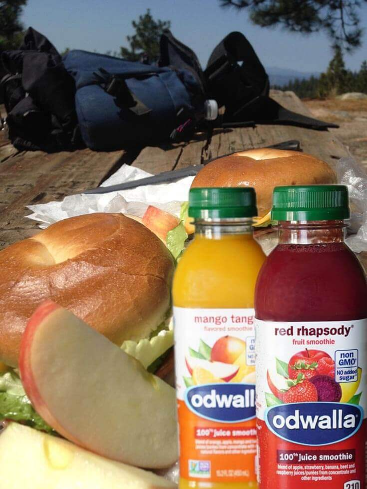 Picnic lunch at the top of Goat Mountain