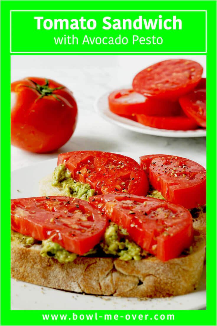 Quick and easy Tomato Sandwich