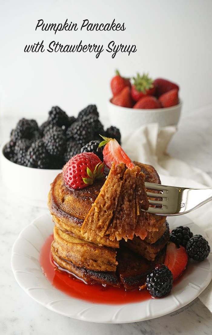 Grill the pancakes until they are golden brown.