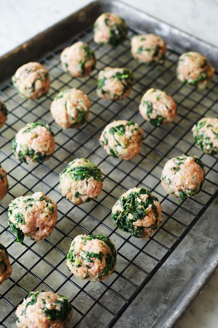 Shape into meatballs.