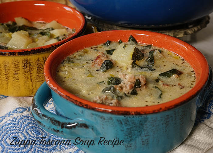 Olive Garden Zuppa Toscana Soup Recipe dished up and ready to enjoy!