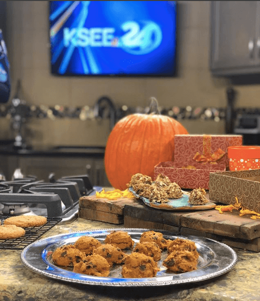 platters of homemade cookies on a counter at the KSEE24 studio!
