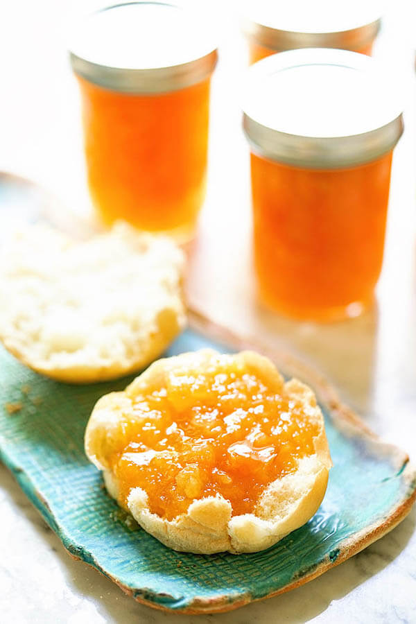 Apricot Pineapple Jam on English muffin