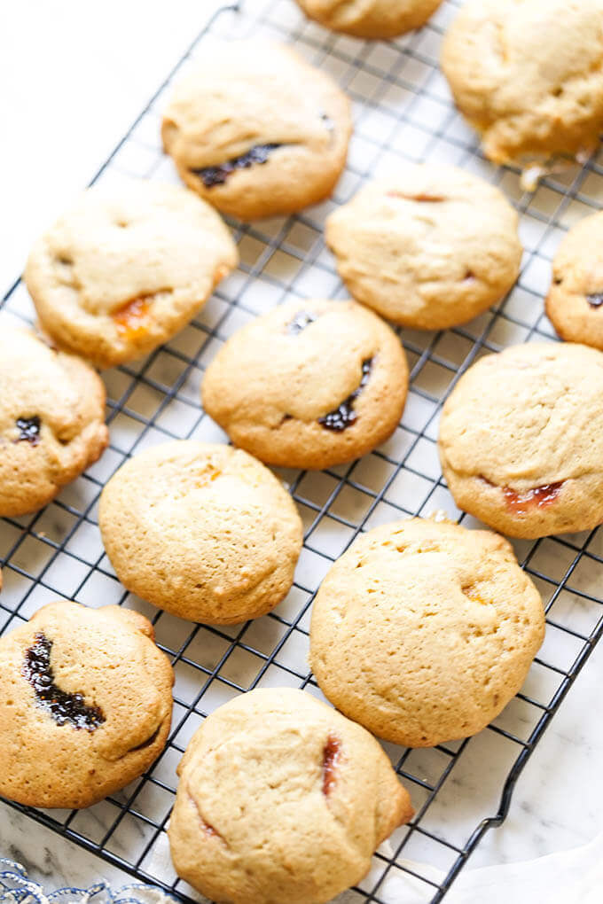 Brown Sugar Cookie Recipe on baking sheet - cookies are cooling.