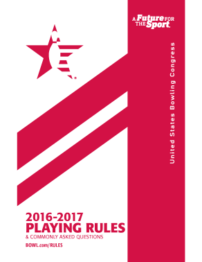 2016-17 USBC Rule Book
