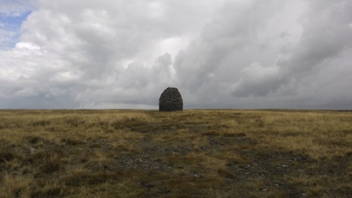 Scout Cairn on the ascent of Pendle.