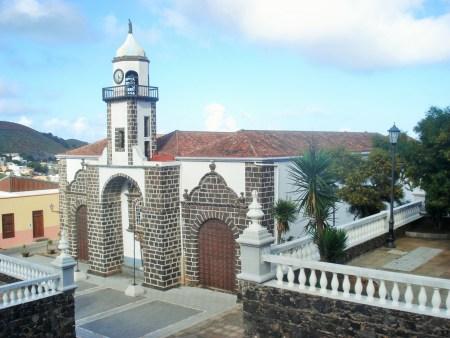 The church in Valverde at the end of the Camino de la Virgen.