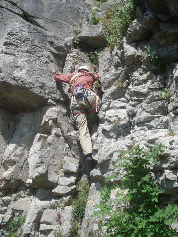 Dodgy descent route.