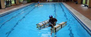 raft building at outdoor centre