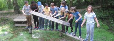 School group teamworking