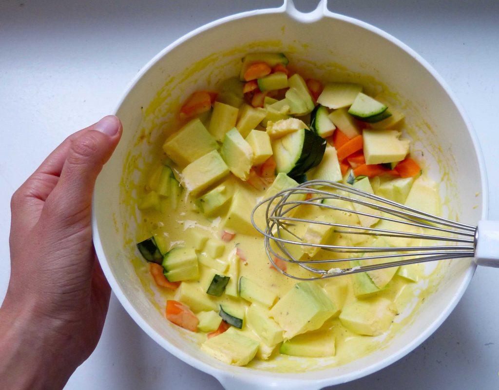 L1060082 1024x800 - Gemüse-Quiche mit Kichererbsen-Grieß-Boden
