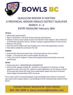 Qualicum Indoor Singles Poster
