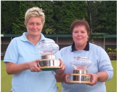 Cheshire's Karen Galvin & Lesley Smith pictured after winning the 2011 BCGLBA Dorothy Pierce Memorial Pairs
