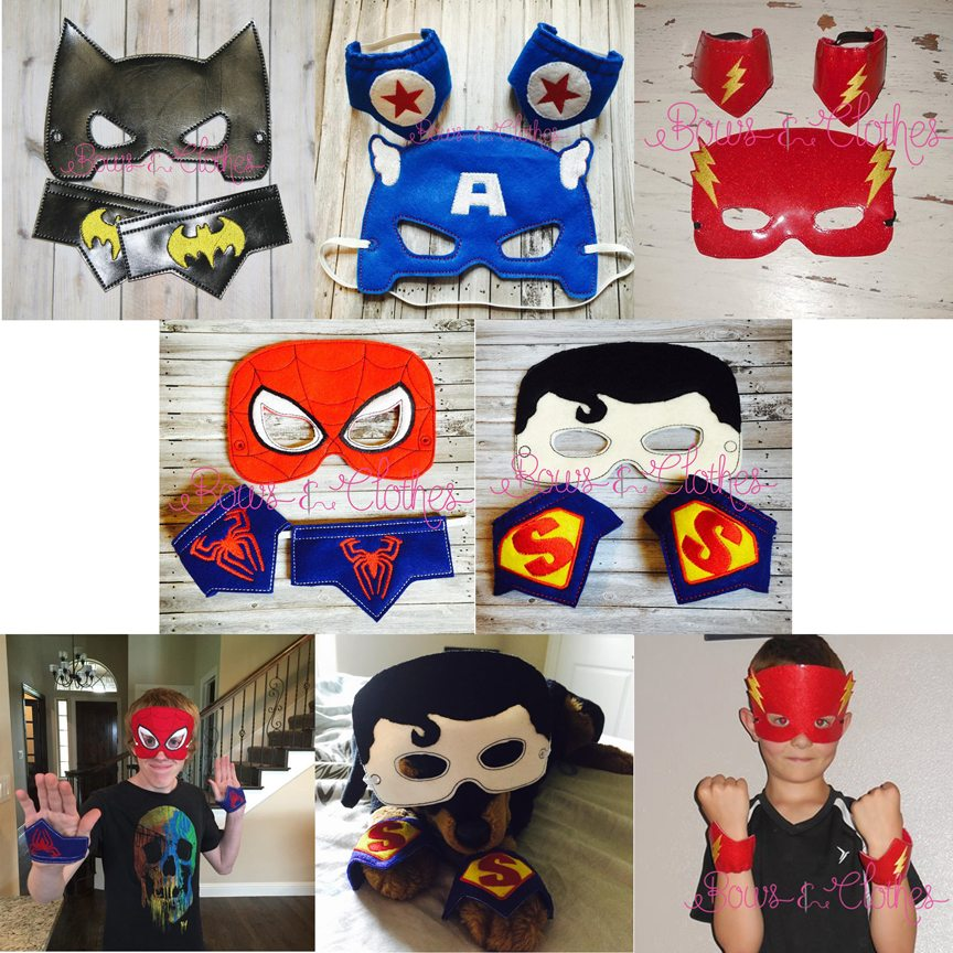 Super Hero mask and wristband set