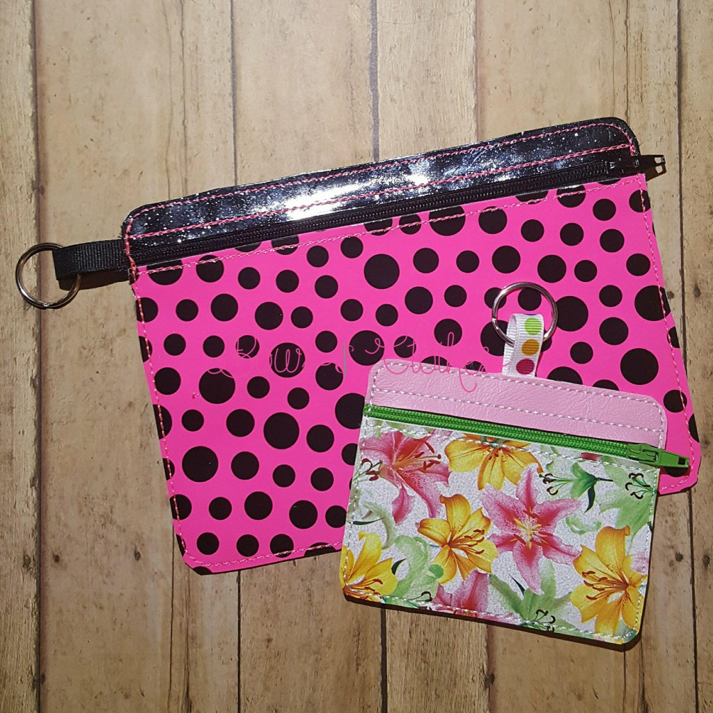 Wide Rectangle Vinyl Zipper Purse