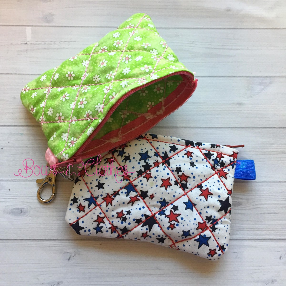 Quilted Fabric Zipper Purse