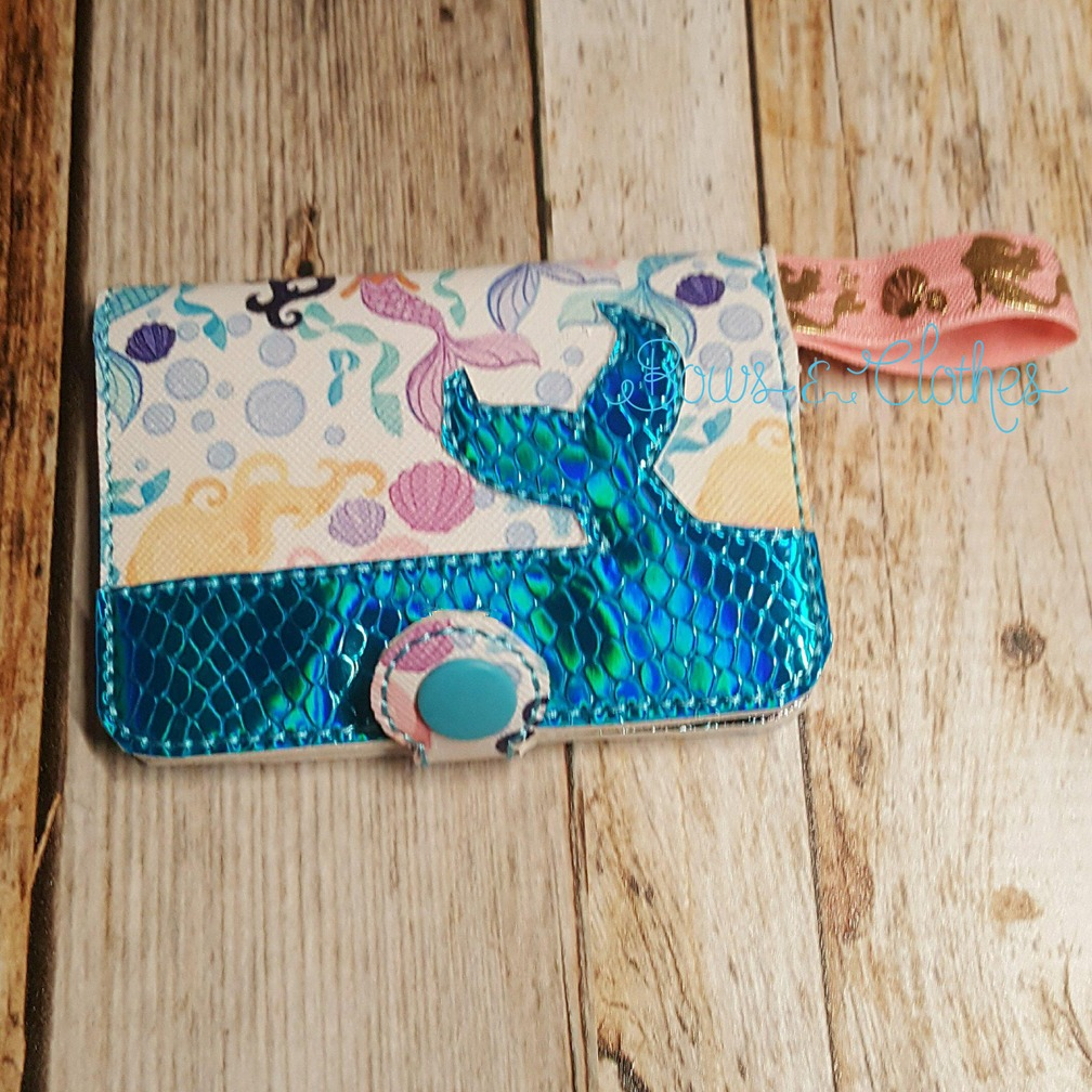 Mermaid Snap Tab Wallet