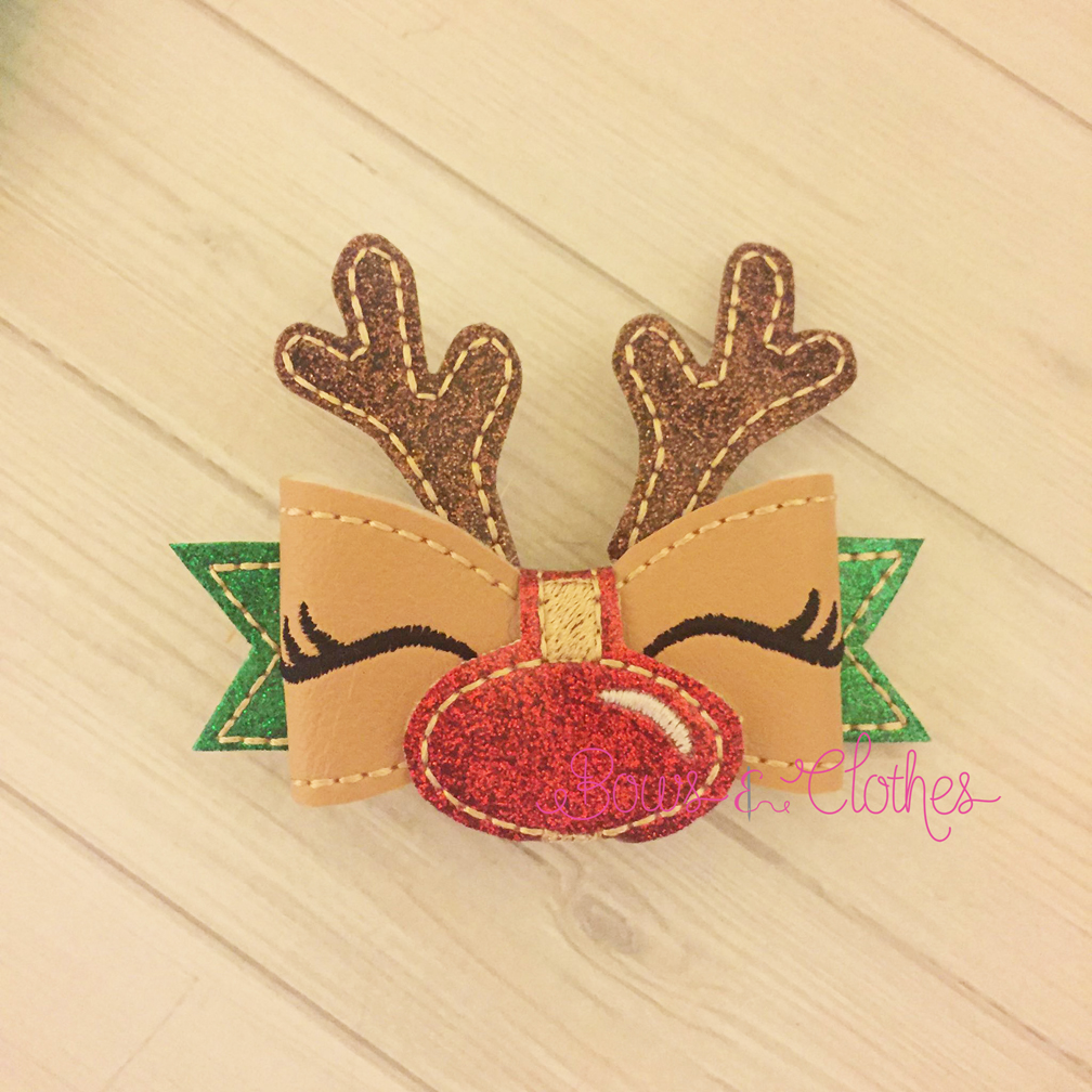 Christmas Reindeer Bow