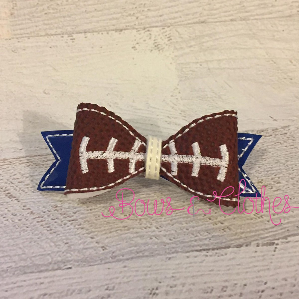 Football Lines Bow