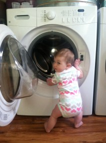 Getting into the washer...