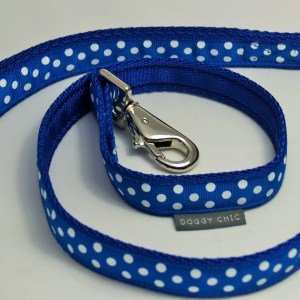DCHIC Blue Polka Dot Lead for your dog