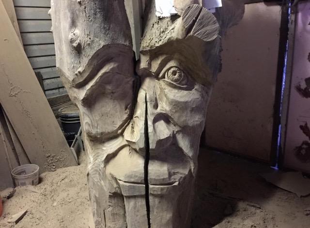 Tree Spirit in progress by Stanton Pace