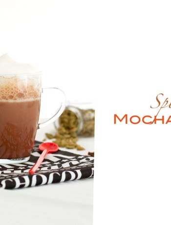 spiced mocha latte