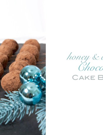 honey almond chocolate cake balls