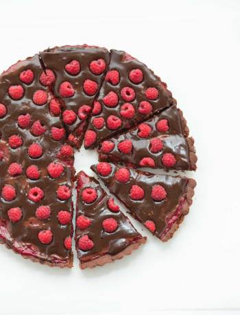 double chocolate raspberry tarte