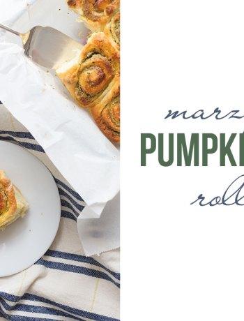 marzipan pumpkin seed rolls
