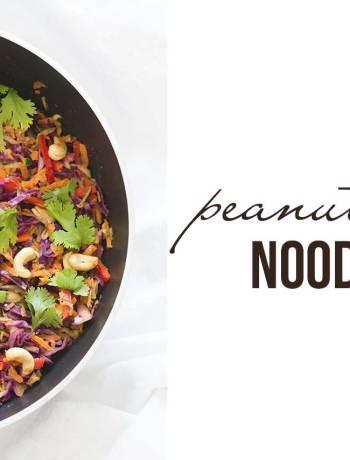 peanut soba noodles