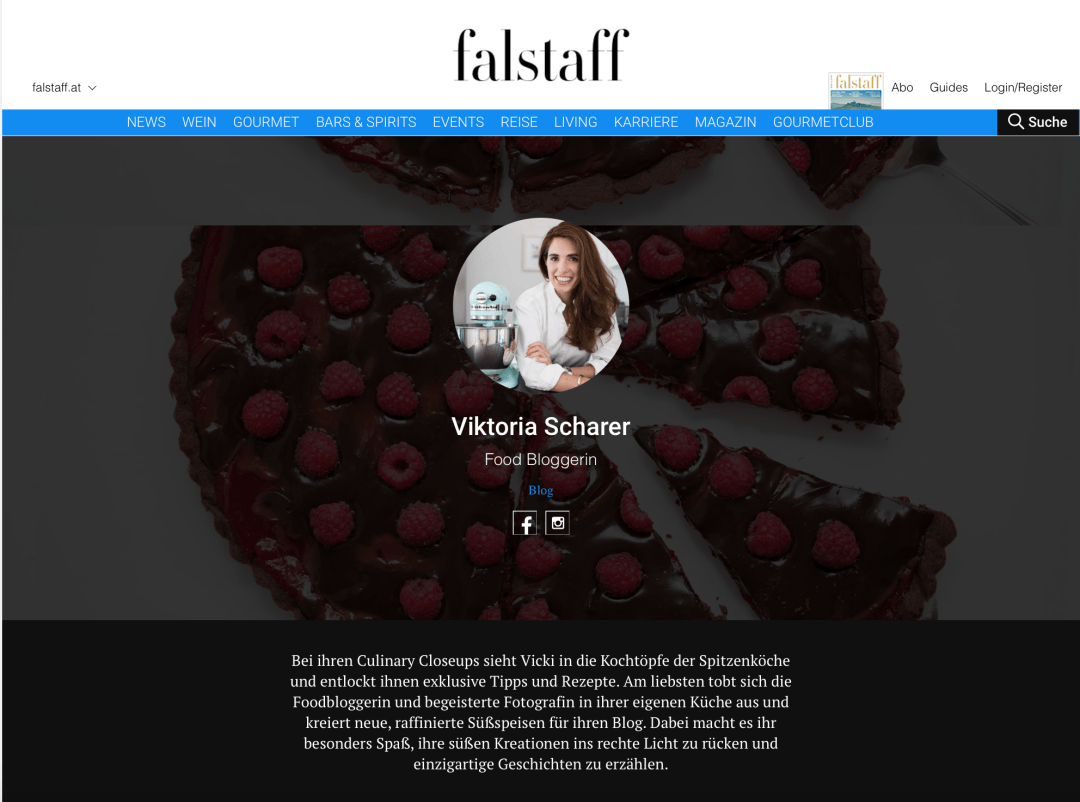 Falstaff food blogger Viktoria Scharer
