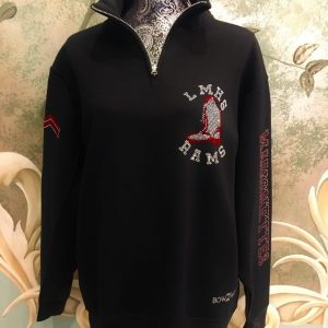 LMHS Rams M-Nettes 1/4 Zip with boot and marrionettes on sleeve