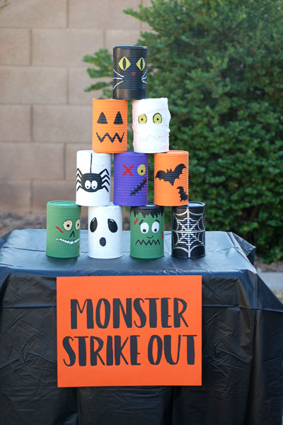 Halloween Party Games- Monster Strike Out