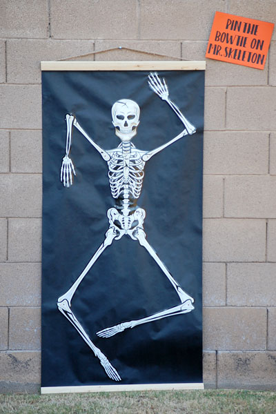 Halloween Party Games- Pin The Bow Tie on Mr. Skeleton