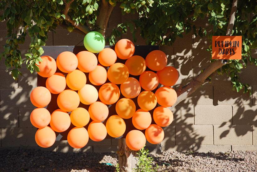 Halloween Party Games- Pumpkin Darts
