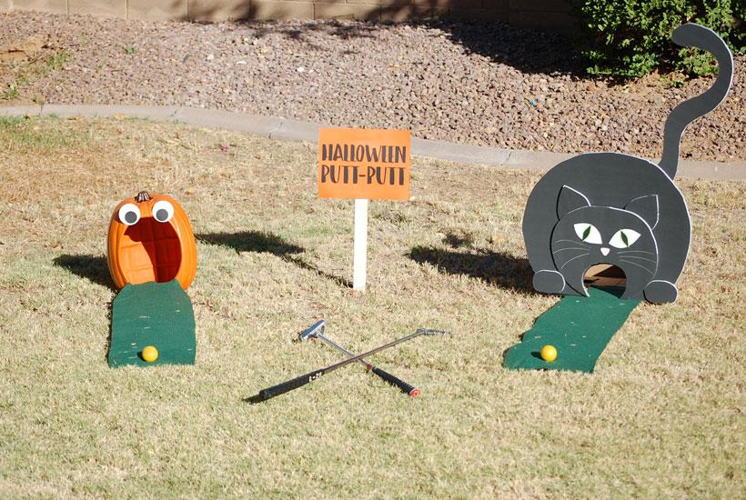 Halloween Party Games- Halloween Putt-Putt