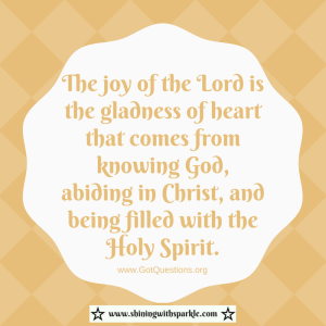 THe hoy of the ord is the gladness of heart that comes from knowing God, abiding in Christ, and being filled with the Holy Spirit.