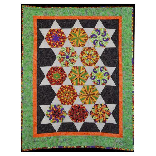 Kaleidoscope lap quilt
