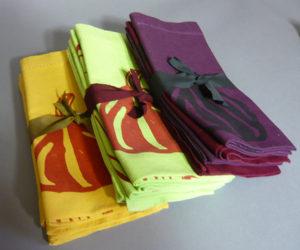 Screenprinted napkins
