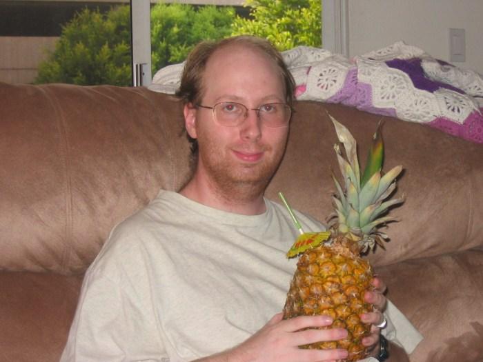 Creepy Man With Pineapple