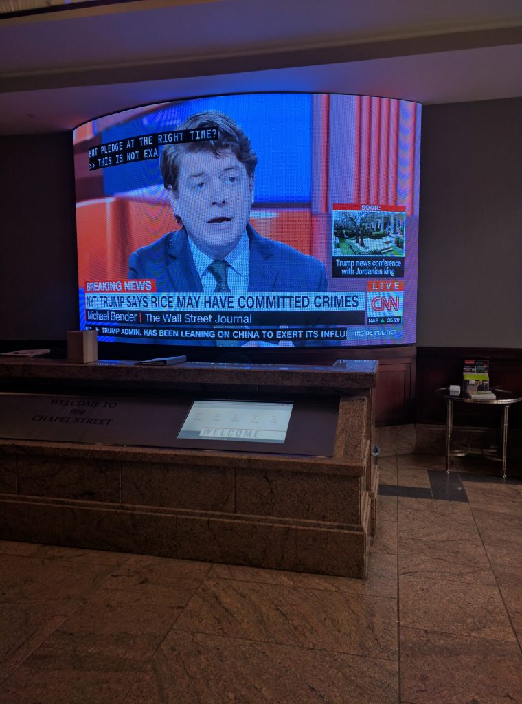 Giant Lobby Video Screen