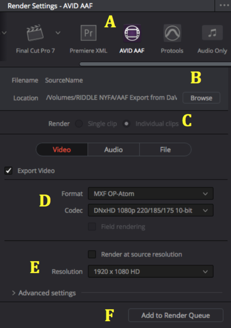 AVID Media Composer & DaVinci Resolve roundtrip – Obsessive