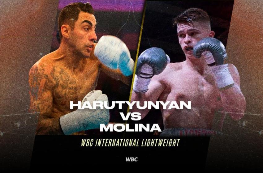 Harutyunyan y Molina disputan título Internacional WBC