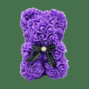 Purple Rose Bear Box