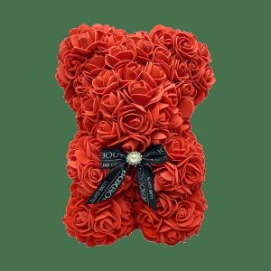 Red rose bear