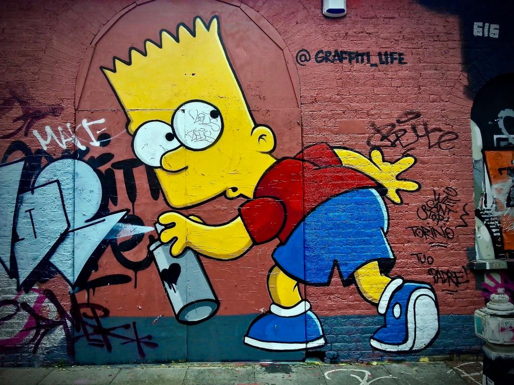 Bart Simpson Street Art Graffiti