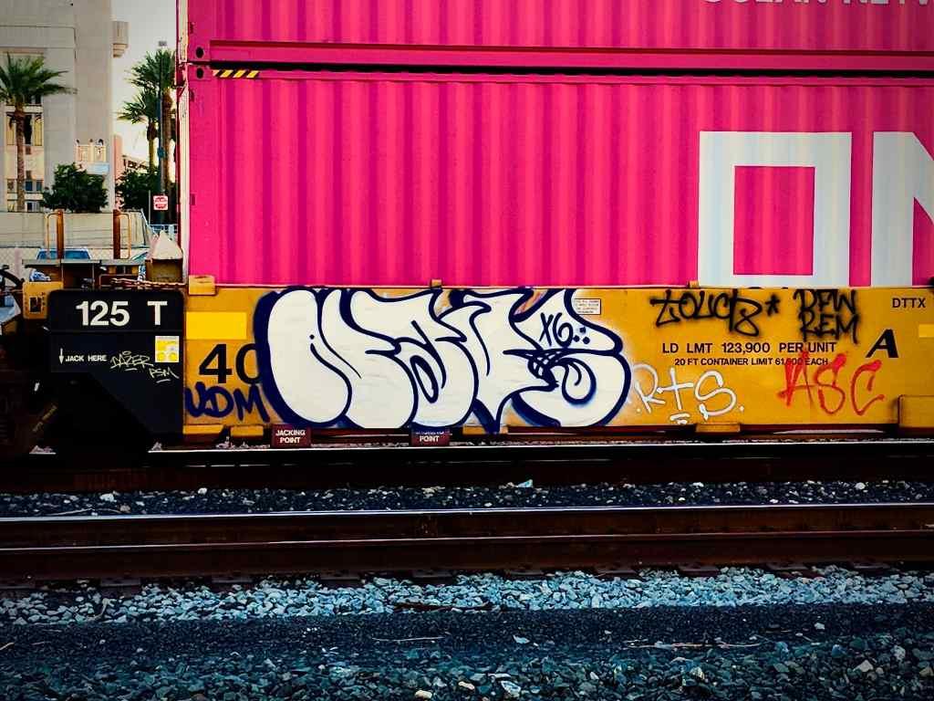 Graffiti Tag NAVE x6 on train