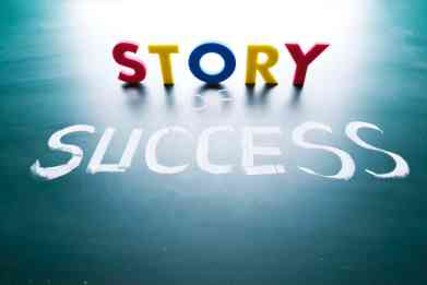 Story of success concept